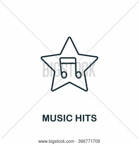 Music Hits Icon From Music Collection. Simple Line Music Hits Icon For Templates, Web Design And Inf