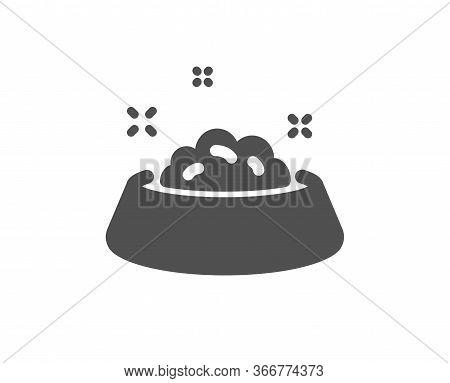 Dog Feeding Icon. Pets Food Sign. Pet Bowl Symbol. Classic Flat Style. Quality Design Element. Simpl