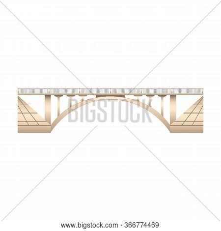 Bridge Vector Icon.realistic Vector Icon Isolated On White Background Bridge.