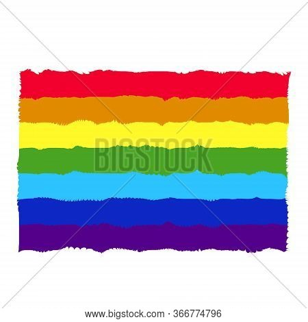 rainbow flag. symbol of lgbt, peace and pride. vector rainbow wallpaper illustration. Rainbow lgbt spectrum flag of Gay Pride Movement, homosexuality emblem. The pride flag representing LGBT pride. LGBT rights concept.