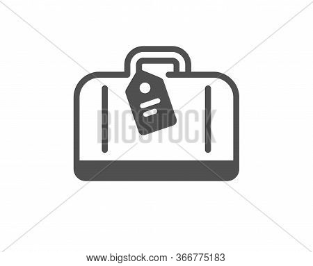 Airport Hand Baggage Reclaim Icon. Airplane Luggage Sign. Flight Checked Bag Symbol. Classic Flat St