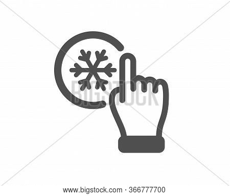 Freezing Click Icon. Ac Cold Temperature Sign. Fridge Function Symbol. Classic Flat Style. Quality D