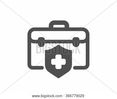 Medical Insurance Icon. Health Coverage Sign. Protection Policy Symbol. Classic Flat Style. Quality