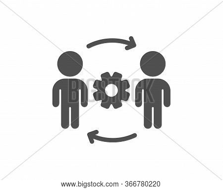 Engineering Team Icon. Engineer Or Architect Group Sign. Working Process Symbol. Classic Flat Style.