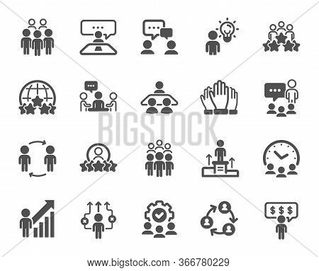 Business People Icons. Team, Meeting, Job Structure. Group People, Communication, Member Icons. Cong