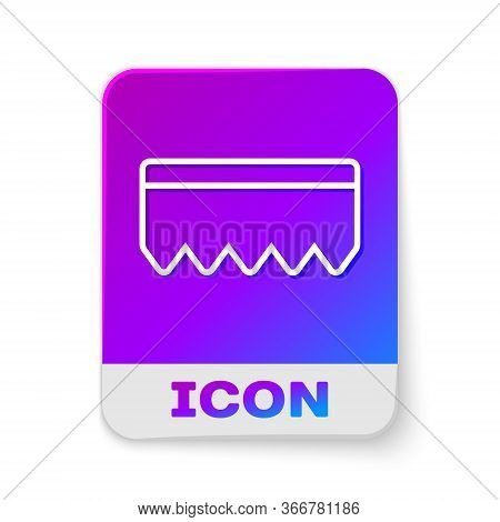 White Line Sponge With Bubbles Icon Isolated On White Background. Wisp Of Bast For Washing Dishes. C