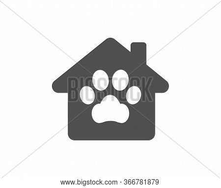 Pet Shelter Icon. Veterinary Clinic Sign. Pets Care Symbol. Classic Flat Style. Quality Design Eleme