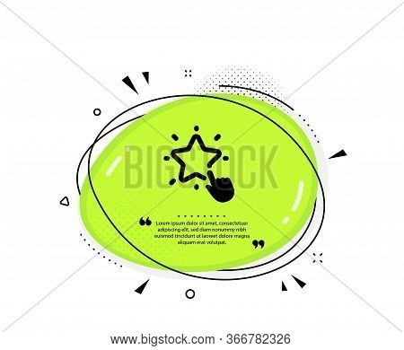 Ranking Star Icon. Quote Speech Bubble. Click Rating Sign. Best Rank Symbol. Quotation Marks. Classi