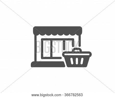 Marketplace Icon. Shopping Store Sign. Customer Cart Symbol. Classic Flat Style. Quality Design Elem