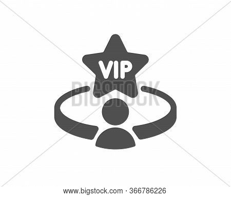 Vip Casino Table Icon. Very Important Person Service Sign. Member Club Privilege Symbol. Classic Fla