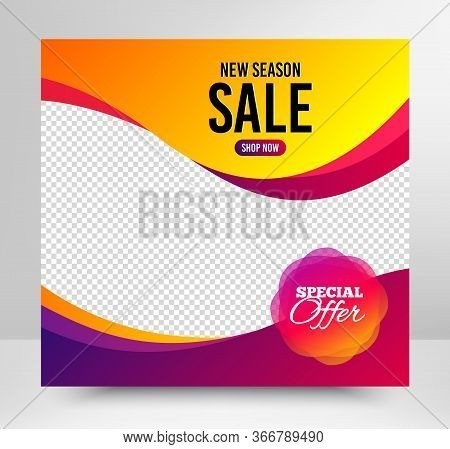 Special Offer Badge. Sale Banner Template. Discount Banner Shape. Sale Coupon Bubble Icon. Social Me