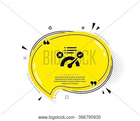 Correct Answer Icon. Quote Speech Bubble. Accepted Or Confirmed Sign. Approved Symbol. Quotation Mar