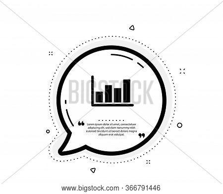 Histogram Column Chart Icon. Quote Speech Bubble. Financial Graph Sign. Stock Exchange Symbol. Busin
