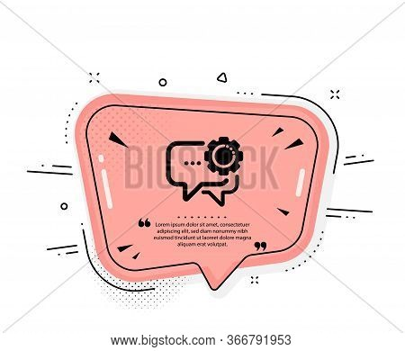 Employees Messenger Icon. Quote Speech Bubble. Speech Bubble Sign. Chat Message Symbol. Quotation Ma