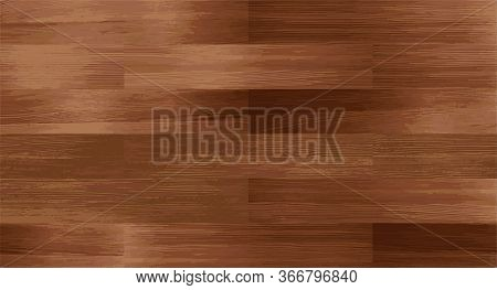 Realistic Wood Textured Seamless Pattern. Wooden Board, Dark Brown Color Floor Or Wall Repeat Textur