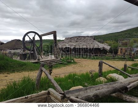 Viking Village, Historic Buildings Of The Scandinavian Warriors, Vikings, The Barbarians And Their H