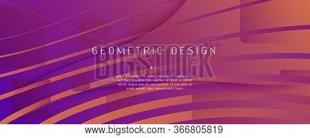 Abstract Fluid Background. 3d Futuristic Liquid. Flow Shapes Brochure. Orange Abstract Fluid Backgro