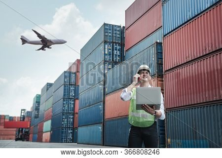 Container Logistics Shipping Management For Transportation Industry, Transport Engineer Manager Comm