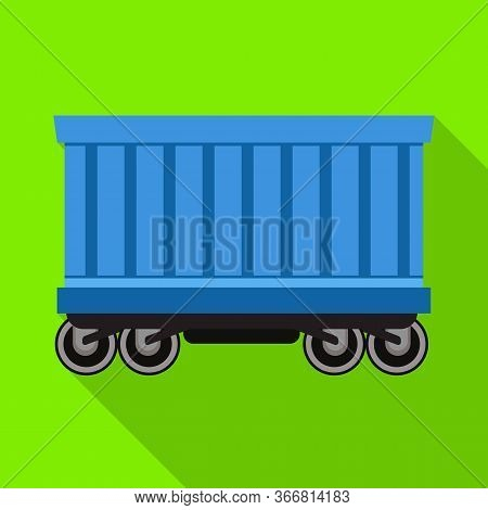 Vector Design Of Wagon And Container Logo. Web Element Of Wagon And Boxcar Vector Icon For Stock.