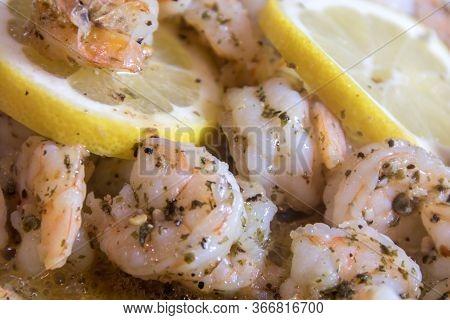 Shrimp Scampi With Fresh Lemon Garlic Parsley Saute