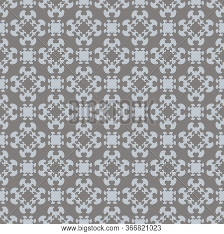 Seamless Pattern With Little Hearts. Color Light Blue And Grey. Vector.