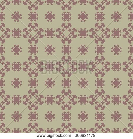 Seamless Pattern With Little Hearts. Burgundy Red Color And Light Green . Vector.