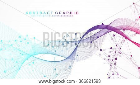 Scientific Vector Illustration Genetic Engineering And Gene Manipulation Concept. Dna Helix, Dna Str