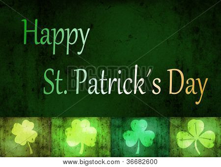 Grungy St. Patrick�s Day Shamrocks