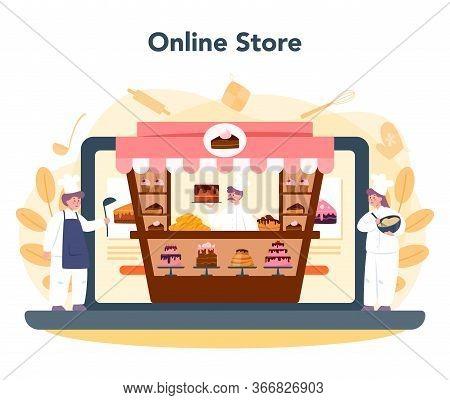 Confectioner Online Service Or Platform. Online Store. Professional
