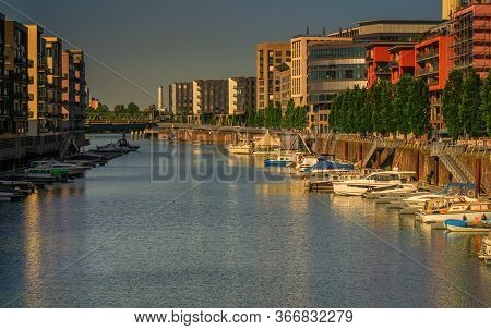 Frankfurt,germany - May 16,2020:westhafen These Are New,modern And Expensive Apartment Buildings And