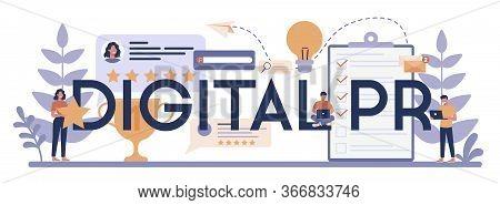 Digital Pr Typographic Header Concept. Idea Of Making