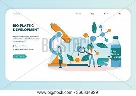 Biodegradable Plastic Invention And Development Web Banner