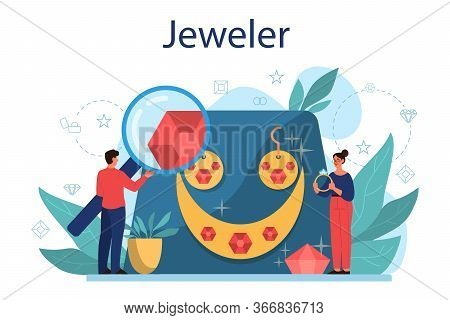 Jeweler Concept Illustration. Idea Of Creative People And Profession.
