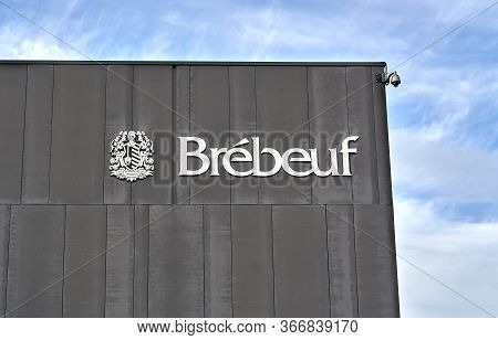 Montreal, Canada - May 17, 2020: College Brebeuf. It Is A Private College Establishment In Montreal.