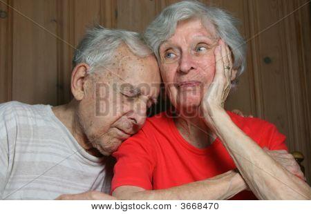Elderly Bored Married Couple_