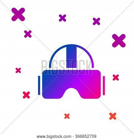 Color Virtual Reality Glasses Icon Isolated On White Background. Stereoscopic 3d Vr Mask. Gradient R