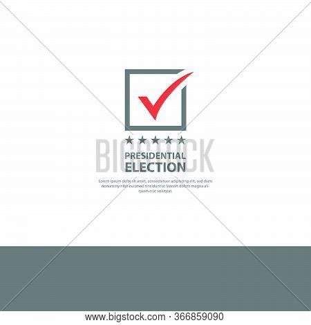 Presidential Election Design Vector Background Isolated On White Background