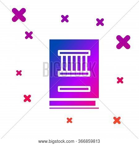 Color Law Book Icon Isolated On White Background. Legal Judge Book. Judgment Concept. Gradient Rando