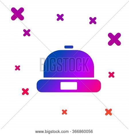 Color Beanie Hat Icon Isolated On White Background. Gradient Random Dynamic Shapes. Vector