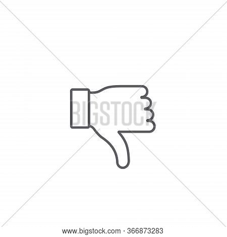 Thumbs Down Dislike Line Icon, Vector Dislike For Social Networks Line Art Vector Icon For Apps And