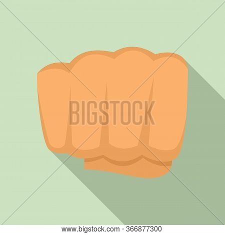 Hand Fist Icon. Flat Illustration Of Hand Fist Vector Icon For Web Design