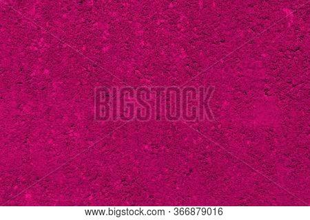 Hot Pink Background With Gradient Colors Of Dark Pink. Dark Grunge Textured Border.