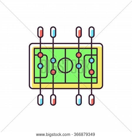 Table Soccer Rgb Color Icon. Traditional Friendly Party Recreational Activity. Competitive Bar, Pub