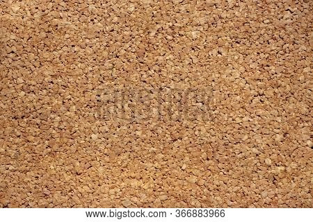Cork Board Texture Background, Cork Granules Closeup, Eco Material For Floor And Walls