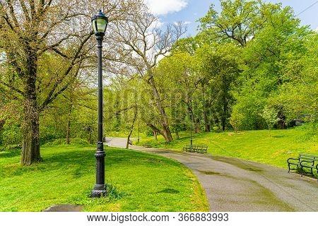 Prospect Park, Brooklyn Ny May 11, 2020, Brooklyn, New York City. People Keeping Their Social Distan