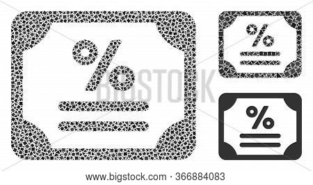 Mosaic Bond Icon Designed From Tuberous Items In Different Sizes, Positions And Proportions. Vector