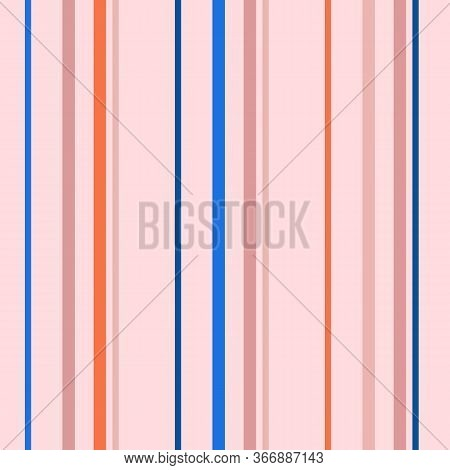 Vertical Stripes Seamless Pattern. Simple Vector Texture With Thin And Thick Lines. Abstract Geometr