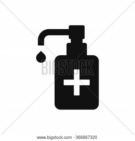 Sanitizer Liquid Soap Icon Isolated On White Background. Sanitizer Liquid Soap Icon In Trendy Design
