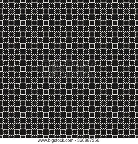 Mesh Seamless Pattern. Vector Texture Of Wavy Grid, Weaving, Smooth Lattice, Net. Subtle Monochrome