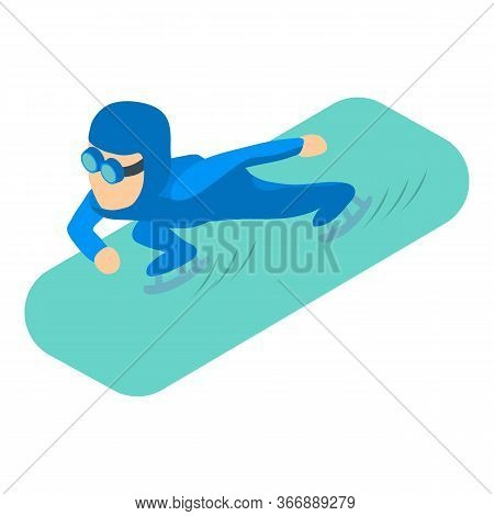 Speed Skater Icon. Isometric Illustration Of Speed Skater Vector Icon For Web